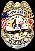Baltimore County Auxiliary Police 75th Anniversary Mini Badge Lapel Pin