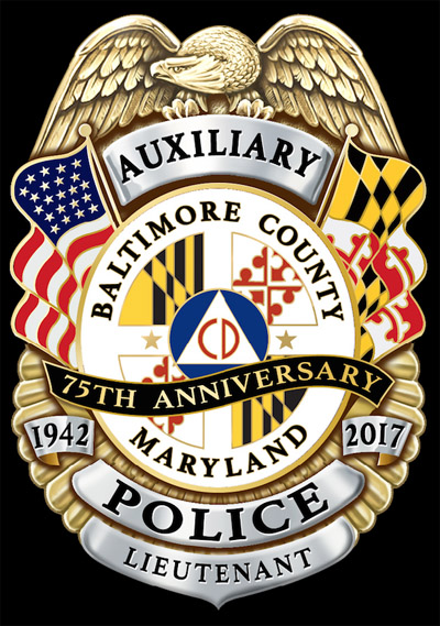 Baltimore County Auxiliary Police 75th Anniversary Badge