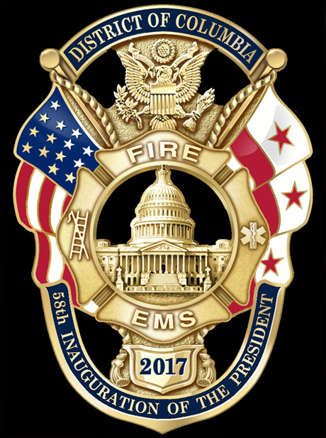 District of Columbia Fire & EMS Department 2017 Presidential Inauguration Badge