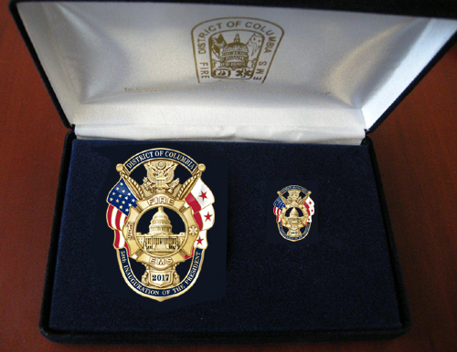 District of Columbia Fire & EMS Department 2017 Presidential Inauguration Badge Set