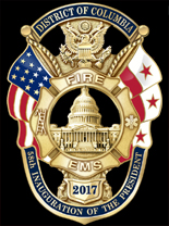 District of Columbia Fire & EMS Department 2017 Presidential Inauguration Mini Badge Lapel Pin