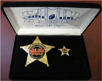 Super Bowl XLIV Law Enforcement Badge Set