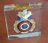 United States Veterans Affairs Police 57th Presidential Inauguration Badge in Lucite