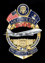 USAF Security Forces Air Force One 2005 Badge