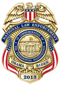 NLEOMF 57th Presidential Inaugural Commemorative Badge
