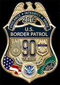 U.S. Border Patrol 90th Anniversary Badge Set