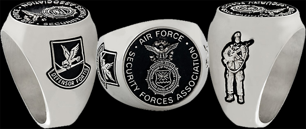 Air Force Security Forces Association Rings from Collinson