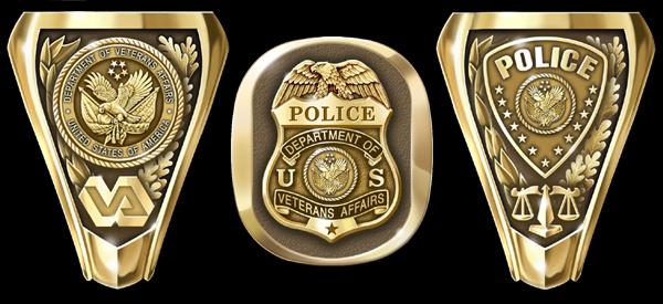 Veteran Affairs Police Rings from Collinson Enterprises
