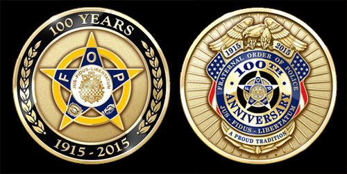 Fraternal Order of Police 100th Anniversary Coin