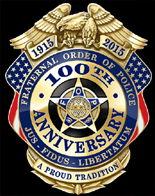 Fraternal Order of Police 100th Anniversary Memorial Mini Badge Lapel Pin