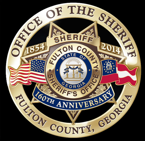 Fulton County Georgia Sheriff's Office 160th Anniversary Badge