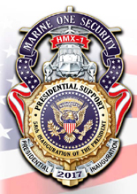 HMX-1 Marine One Security 2017 Presidential Inauguration Badge