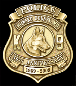 Howard County Police K9 Badge