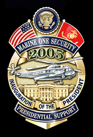 U.S. Marine Corp HMX-1 Security 2005 Badge