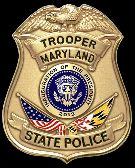 Maryland State Police Special Purpose Badge Commemorating the 57th Presidential Inauguration 2013