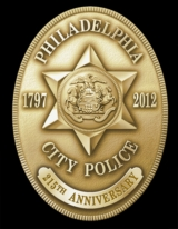 Philadelphia Police Department 215th Anniversary Badge