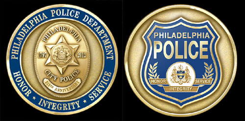 Philadelphia Police Department 215th Anniversary Coin