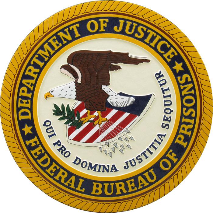 Department of justice federal bureau of prisons logo for Bureau of prisons